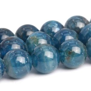 "Shop Apatite Round Beads! 5MM Blue Apatite Beads Grade AA+ Genuine Natural Gemstone Full Strand Round Loose Beads 15"" BULK LOT 1,3,5,10 and 50 (103137-689) 