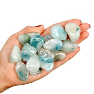 Shop Tumbled Apatite Crystals & Pocket Stones! Aqualite Tumbled Stone, Aqualite Tumbled, Healing Blue Apatite with Quartz Stone, Blue Apatite, Aqualite Crystal, Aqualite Healing Mineral | Natural genuine stones & crystals in various shapes & sizes. Buy raw cut, tumbled, or polished gemstones for making jewelry or crystal healing energy vibration raising reiki stones. #crystals #gemstones #crystalhealing #crystalsandgemstones #energyhealing #affiliate #ad