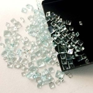 Shop Aquamarine Faceted Beads! 3-6mm Aquamarine Princess Cut Stone, Faceted Loose Aquamarine Square Gems, Aquamarine For Jewelry (1ctw To 10ctw Options) – Vca49 | Natural genuine faceted Aquamarine beads for beading and jewelry making.  #jewelry #beads #beadedjewelry #diyjewelry #jewelrymaking #beadstore #beading #affiliate #ad