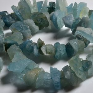 Shop Aquamarine Stones & Crystals! Raw Natural Aquamarine / Rough Aquamarine / rarity Larger Raw Aquamarine Points- Full Strand -8mm X14mm | Natural genuine stones & crystals in various shapes & sizes. Buy raw cut, tumbled, or polished gemstones for making jewelry or crystal healing energy vibration raising reiki stones. #crystals #gemstones #crystalhealing #crystalsandgemstones #energyhealing #affiliate #ad