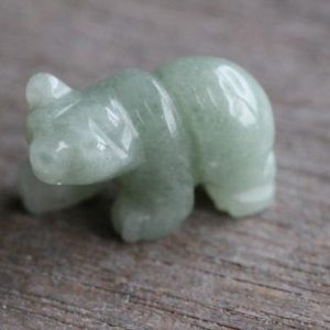 Aventurine Bear Animal Figurine d23 | Natural genuine stones & crystals in various shapes & sizes. Buy raw cut, tumbled, or polished gemstones for making jewelry or crystal healing energy vibration raising reiki stones. #crystals #gemstones #crystalhealing #crystalsandgemstones #energyhealing #affiliate #ad