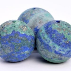 Shop Azurite Round Beads! 24 / 12 / 7 Pcs – 15MM Matte Azurite Beads Grade AAA Natural Round Gemstone Loose Beads (103609) | Natural genuine round Azurite beads for beading and jewelry making.  #jewelry #beads #beadedjewelry #diyjewelry #jewelrymaking #beadstore #beading #affiliate #ad