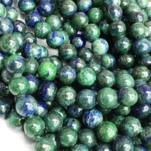 Shop Azurite Round Beads! Azurite Round Beads,4mm 6mm 8mm 10mm 12mm Gemstone Beads ,Approx 15.5 Inch Strand | Natural genuine round Azurite beads for beading and jewelry making.  #jewelry #beads #beadedjewelry #diyjewelry #jewelrymaking #beadstore #beading #affiliate #ad