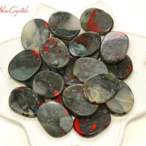1 African BLOODSTONE Palm Stone Jasper #AB05 | Natural genuine stones & crystals in various shapes & sizes. Buy raw cut, tumbled, or polished gemstones for making jewelry or crystal healing energy vibration raising reiki stones. #crystals #gemstones #crystalhealing #crystalsandgemstones #energyhealing #affiliate #ad