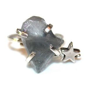 Shop Fluorite Rings! Blue Fluorite Shard Ring Fluorite Ring Star Ring Adjustable Blue Ring Fluorite Jewelry Crystal Ring Raw Stone Ring Silver Star Ring | Natural genuine Fluorite rings, simple unique handcrafted gemstone rings. #rings #jewelry #shopping #gift #handmade #fashion #style #affiliate #ad