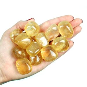 Shop Tumbled Calcite Crystals & Pocket Stones! Calcite Tumbled Stone, Honey Amber Calcite Tumbled Stones, Healing Yellow Calcite Crystals, Healing Amber Calcite Gemstones Ladiescrystals | Natural genuine stones & crystals in various shapes & sizes. Buy raw cut, tumbled, or polished gemstones for making jewelry or crystal healing energy vibration raising reiki stones. #crystals #gemstones #crystalhealing #crystalsandgemstones #energyhealing #affiliate #ad