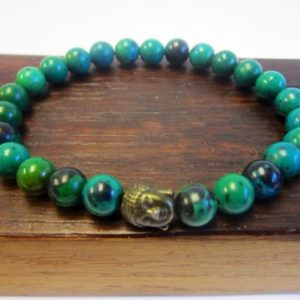 Shop Chrysocolla Bracelets! Chrysocolla Bracelet Men Chakra Bracelet Chrysocolla Healing Bracelet Men Yoga Meditation Bracelet Chrysocolla Taurus Virgo Mala Bracelet | Natural genuine Chrysocolla bracelets. Buy crystal jewelry, handmade handcrafted artisan jewelry for women.  Unique handmade gift ideas. #jewelry #beadedbracelets #beadedjewelry #gift #shopping #handmadejewelry #fashion #style #product #bracelets #affiliate #ad