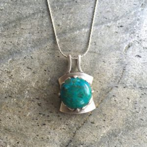 Shop Chrysocolla Jewelry! Chrysocolla Pendant, Chrysocolla, Vintage Pendant, Natural Stone, Large Pendant, Large Gem, Solid Silver, Silver Pendant, Pure Silver | Natural genuine Chrysocolla jewelry. Buy crystal jewelry, handmade handcrafted artisan jewelry for women.  Unique handmade gift ideas. #jewelry #beadedjewelry #beadedjewelry #gift #shopping #handmadejewelry #fashion #style #product #jewelry #affiliate #ad