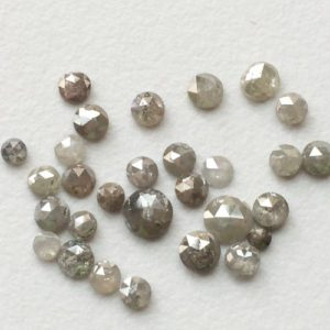 Shop Gemstone Chip & Nugget Beads! 3mm To 4mm Light Grey Rose Cut Diamond, Grey Round Rose Cut Natural Diamond, Light Grey Rough Diamond, Grey Raw Diamond, Diamond For Jewelry | Natural genuine chip Gemstone beads for beading and jewelry making.  #jewelry #beads #beadedjewelry #diyjewelry #jewelrymaking #beadstore #beading #affiliate #ad