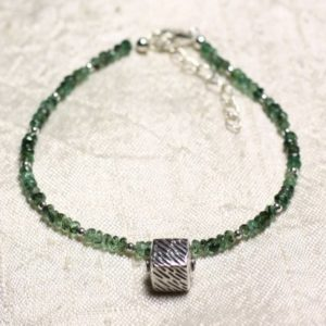 Shop Emerald Bracelets! Bracelet 925 sterling silver and stone – faceted rondelles 3mm Zambian Emerald | Natural genuine Emerald bracelets. Buy crystal jewelry, handmade handcrafted artisan jewelry for women.  Unique handmade gift ideas. #jewelry #beadedbracelets #beadedjewelry #gift #shopping #handmadejewelry #fashion #style #product #bracelets #affiliate #ad