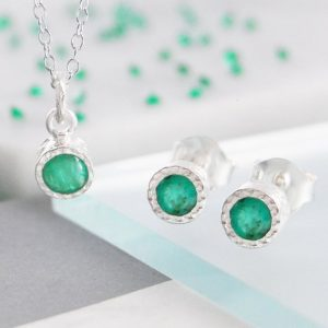 Shop Emerald Necklaces! Emerald Gift Set, Silver Jewelry Set, Earring Necklace Set, Precious Stone, Real Emerald Earrings, Embers Jewelry, Silver Gemstone Jewelry | Natural genuine Emerald necklaces. Buy crystal jewelry, handmade handcrafted artisan jewelry for women.  Unique handmade gift ideas. #jewelry #beadednecklaces #beadedjewelry #gift #shopping #handmadejewelry #fashion #style #product #necklaces #affiliate #ad