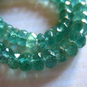 EMERALD Gemstone Beads RONDELLES, Luxe AAA /  25 – 100 pcs, 3-3.5 mm, Zambian Emerald Beads, May Birthstone Gem Genuine African true 35 tr e | Natural genuine rondelle Emerald beads for beading and jewelry making.  #jewelry #beads #beadedjewelry #diyjewelry #jewelrymaking #beadstore #beading #affiliate #ad
