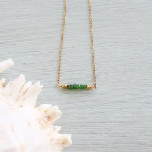 Shop Garnet Necklaces! Tsavorite bead bar necklace – Semi-precious Tsavorite gemstone bar necklace – Genuine green garnet tsavorite necklace – January birthstone | Natural genuine Garnet necklaces. Buy crystal jewelry, handmade handcrafted artisan jewelry for women.  Unique handmade gift ideas. #jewelry #beadednecklaces #beadedjewelry #gift #shopping #handmadejewelry #fashion #style #product #necklaces #affiliate #ad