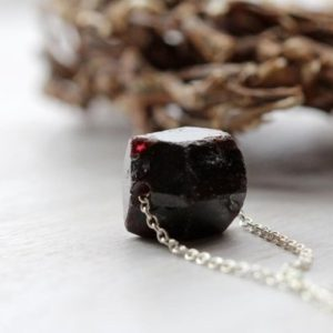 Shop Garnet Pendants! Garnet Necklace – Red Stone Pendant – Sterling Silver Chain – Beaded Stone Pendant | Natural genuine Garnet pendants. Buy crystal jewelry, handmade handcrafted artisan jewelry for women.  Unique handmade gift ideas. #jewelry #beadedpendants #beadedjewelry #gift #shopping #handmadejewelry #fashion #style #product #pendants #affiliate #ad