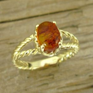 Shop Amber Rings! Genuine Amber Ring, Golden Amber Ring, Natural Baltic Amber Stone, Statement Ring, Gold Gemstone Ring, Natural Amber Ring, Unique Gold Ring | Natural genuine Amber rings, simple unique handcrafted gemstone rings. #rings #jewelry #shopping #gift #handmade #fashion #style #affiliate #ad