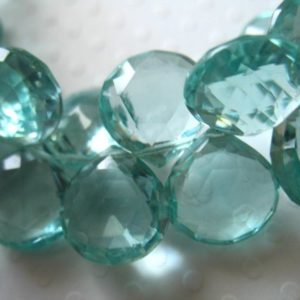 Shop Briolette Beads! 2-25 pcs / GREEN QUARTZ HEART Briolettes / 10-11 mm, Green Amethyst Quartz, Faceted Focal, February birthstone brides bridal bsc53 solo | Natural genuine other-shape Gemstone beads for beading and jewelry making.  #jewelry #beads #beadedjewelry #diyjewelry #jewelrymaking #beadstore #beading #affiliate #ad