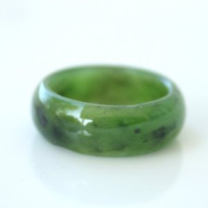 Green Jade Ring – Thick Band – Simple Band Ring | Natural genuine Jade rings, simple unique handcrafted gemstone rings. #rings #jewelry #shopping #gift #handmade #fashion #style #affiliate #ad