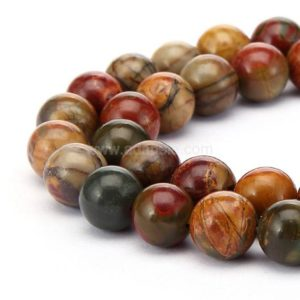Shop Red Jasper Beads! You Pick Top Quality Natural Picasso Jasper Gemstone 4mm 6mm 8mm 10mm Round Loose Beads 15 inch Per Strand for Jewelry Craft Making GF10 | Natural genuine beads Jasper beads for beading and jewelry making.  #jewelry #beads #beadedjewelry #diyjewelry #jewelrymaking #beadstore #beading #affiliate #ad