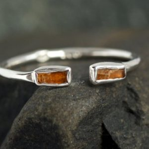 Shop Kyanite Rings! Adjustable Orange Kyanite Open Front Ring. Orange Kyanite Ring. Kyanite Ring. Adjustable Ring. Adjustable Orange Kyanite Ring. | Natural genuine Kyanite rings, simple unique handcrafted gemstone rings. #rings #jewelry #shopping #gift #handmade #fashion #style #affiliate #ad