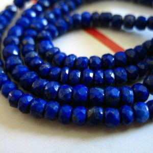 Shop Lapis Lazuli Rondelle Beads! Lapis Lazuli Rondelles Beads, 3-4 Mm, Full Strand, September Birthstone, Pyrite Inclusions, Dark Blue Brides Bridal | Natural genuine rondelle Lapis Lazuli beads for beading and jewelry making.  #jewelry #beads #beadedjewelry #diyjewelry #jewelrymaking #beadstore #beading #affiliate #ad