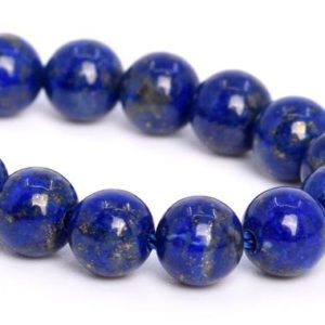 "Shop Lapis Lazuli Round Beads! 5MM Lapis Lazuli Beads Afghanistan Grade AA+ Genuine Natural Gemstone Half Strand Round Loose Beads 7.5"" BULK LOT 1,3,5,10,50 (105269h-1488) 
