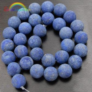 Natural Matte Lapis Lazuli Beads, Blue Matte Gemstone Beads, 4mm 6mm 8mm 10mm 12mm Stone Beads, Round Natural Beads | Natural genuine beads Array beads for beading and jewelry making.  #jewelry #beads #beadedjewelry #diyjewelry #jewelrymaking #beadstore #beading #affiliate #ad