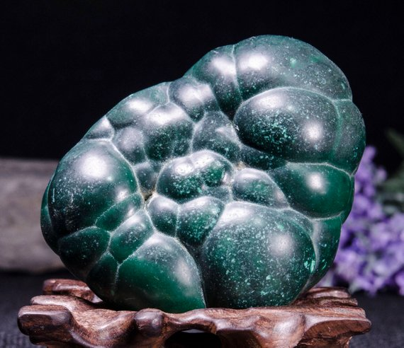Best Large Polished Green Malachite Stone -tumbled Stones For Decoration/pocket Stones/healing Crystals/valentines Gift-55*71*43mm-252g#3842