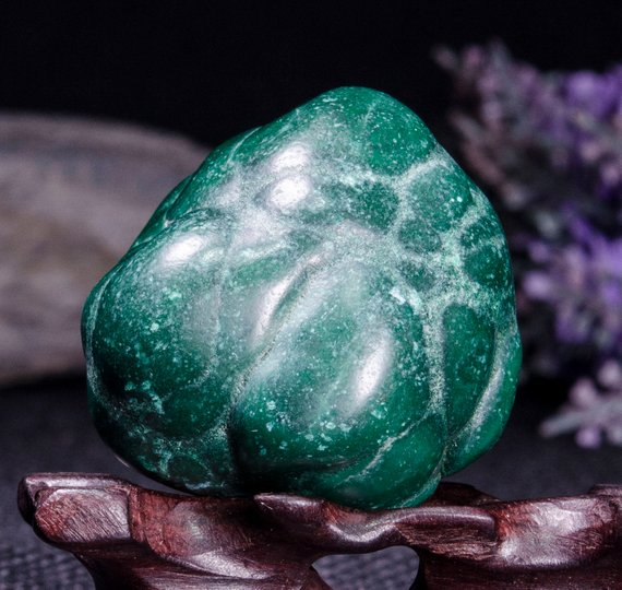 Best Large Polished Green Malachite Stone -tumbled Stones For Decoration/pocket Stones/healing Crystals/valentines Gift-35*33*42mm-87g#3841