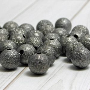 Shop Beads With Large Holes! Stardust Beads – Metal Beads – Gunmetal Beads – Spacer Beads – Round Beads – Ball Beads – Brass Beads – Choose Your Size | Shop jewelry making and beading supplies, tools & findings for DIY jewelry making and crafts. #jewelrymaking #diyjewelry #jewelrycrafts #jewelrysupplies #beading #affiliate #ad