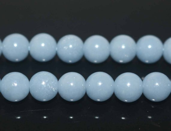 "Natural Aa Angelite Round Beads,angelite Beads,6mm 8mm 10mm 12mm Natural Smooth Beads,one Strand 15"",gemstone Beads,blue Beads"