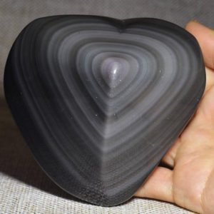 Shop Obsidian Shapes! Natural Extra Large Ice Rainbow Sheen Obsidian-heart-shaped/Obsidian Pendant/Meditation stone/Energy stone/Worry stone-95*85*44mm 404g#829 | Natural genuine stones & crystals in various shapes & sizes. Buy raw cut, tumbled, or polished gemstones for making jewelry or crystal healing energy vibration raising reiki stones. #crystals #gemstones #crystalhealing #crystalsandgemstones #energyhealing #affiliate #ad
