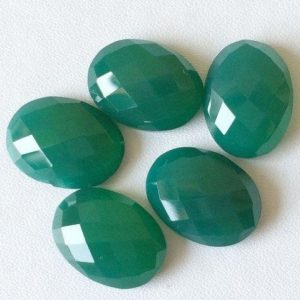 Shop Onyx Cabochons! 16mm Green Onyx Oval Rose Cut Cabochons, Green Onyx Checker Cut Cabochons, 4 Pieces Oval Flat Back Green Onyx Cabochon For Jewelry – BGPC524 | Natural genuine stones & crystals in various shapes & sizes. Buy raw cut, tumbled, or polished gemstones for making jewelry or crystal healing energy vibration raising reiki stones. #crystals #gemstones #crystalhealing #crystalsandgemstones #energyhealing #affiliate #ad