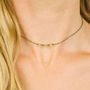 Shop Peridot Necklaces! Peridot choker. Green peridot choker necklace. Bright green peridot necklace. Boho green gemstone jewelry. August birthstone necklace. | Natural genuine Peridot necklaces. Buy crystal jewelry, handmade handcrafted artisan jewelry for women.  Unique handmade gift ideas. #jewelry #beadednecklaces #beadedjewelry #gift #shopping #handmadejewelry #fashion #style #product #necklaces #affiliate #ad