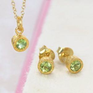 Shop Peridot Pendants! Peridot, Gift Set, Gold Jewelry Set, Peridot Necklace, Peridot Studs, Peridot Pendant, Bridesmaid Gifts, Green Gemstone, Birthstone Jewelry | Natural genuine Peridot pendants. Buy crystal jewelry, handmade handcrafted artisan jewelry for women.  Unique handmade gift ideas. #jewelry #beadedpendants #beadedjewelry #gift #shopping #handmadejewelry #fashion #style #product #pendants #affiliate #ad