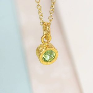 Gold Peridot Necklace, Gemstone Necklace, Gold Gemstone Pendant, Green Peridot Gemstone, Natural Stone Necklace, Green Stone Pendant | Natural genuine Peridot pendants. Buy crystal jewelry, handmade handcrafted artisan jewelry for women.  Unique handmade gift ideas. #jewelry #beadedpendants #beadedjewelry #gift #shopping #handmadejewelry #fashion #style #product #pendants #affiliate #ad