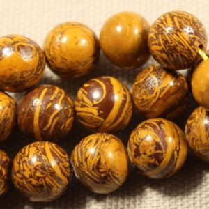 Shop Petrified Wood Beads! Petrified Wood 9mm-10mm Round Polished Jewelry Making Individual and Strand Craft Beads – 0337 | Natural genuine round Petrified Wood beads for beading and jewelry making.  #jewelry #beads #beadedjewelry #diyjewelry #jewelrymaking #beadstore #beading #affiliate #ad