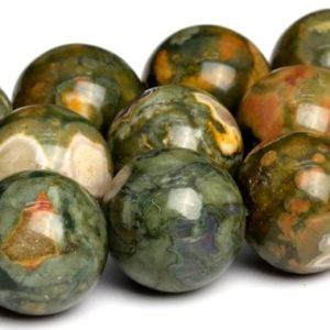 "Shop Rainforest Jasper Beads! 12mm Rainforest Rhyolite Beads Grade Aa Natural Gemstone Full Strand Round Loose Beads 15"" Bulk Lot 1, 3, 5, 10 And 50 (101724-107) 