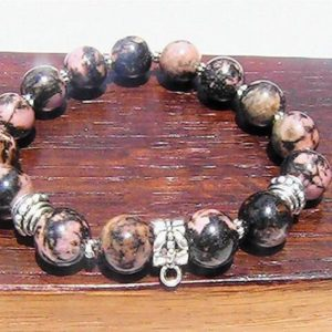 Shop Rhodonite Bracelets! Rhodonite Bracelet Solar Plexus Heart Chakra Bracelet Healing Rhodonite Bracelet, Taurus Rhodonite Bracelet, Rhodonite Charm Bracelet Yoga | Natural genuine Rhodonite bracelets. Buy crystal jewelry, handmade handcrafted artisan jewelry for women.  Unique handmade gift ideas. #jewelry #beadedbracelets #beadedjewelry #gift #shopping #handmadejewelry #fashion #style #product #bracelets #affiliate #ad