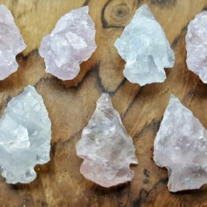 "Shop Rose Quartz Gemstones! 1"" Rose Quartz Arrowhead   – 020 
