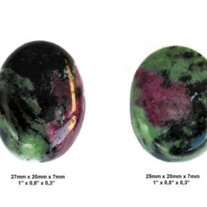 Shop Ruby Zoisite Stones & Crystals! Ruby Zoisite Cabochon Stone – Set of 2 Pieces – Pair Cabochon – Oval Cabochons | Natural genuine stones & crystals in various shapes & sizes. Buy raw cut, tumbled, or polished gemstones for making jewelry or crystal healing energy vibration raising reiki stones. #crystals #gemstones #crystalhealing #crystalsandgemstones #energyhealing #affiliate #ad