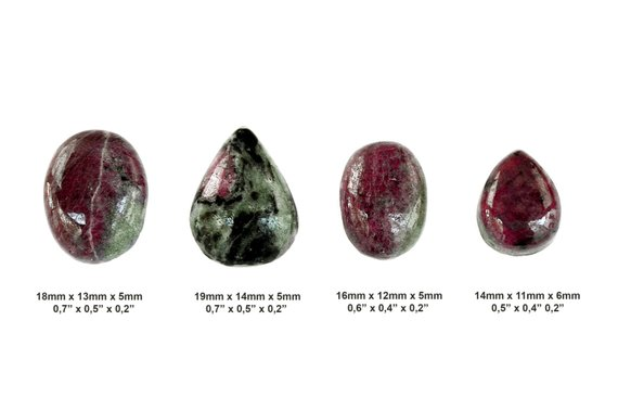 Ruby Zoisite Cabochon Stone - Set Of 4 Pieces - Cabochon Set - Stone Set