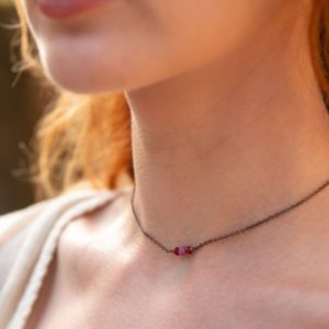 Shop Ruby Necklaces! Ruby tiny gemstone choker. Dainty beaded choker. Dainty choker. Delicate gold choker. Minimal choker. Ruby choker. July birthstone necklace | Natural genuine Ruby necklaces. Buy crystal jewelry, handmade handcrafted artisan jewelry for women.  Unique handmade gift ideas. #jewelry #beadednecklaces #beadedjewelry #gift #shopping #handmadejewelry #fashion #style #product #necklaces #affiliate #ad