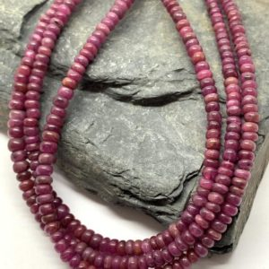 Shop Ruby Rondelle Beads! Ruby Rondelle Handmade Beads 2-3.5mm Aprx Handcut Natural Ruby Beads Organic Ruby Beads / Jewellery Making Red Gemstone | Natural genuine rondelle Ruby beads for beading and jewelry making.  #jewelry #beads #beadedjewelry #diyjewelry #jewelrymaking #beadstore #beading #affiliate #ad