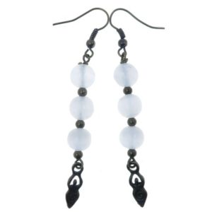 "Shop Selenite Earrings! Selenite Goddess Earrings 2.7"" White Radiant Gemstone Healing Statement Dangle 