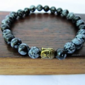 Shop Snowflake Obsidian Bracelets! Mens Snowflake Obsidian Bracelet Mens Base Chakra Bracelet Mens Detox Bracelet Snowflake Obsidian Purification Bracelet Mens Yoga Meditation | Natural genuine Snowflake Obsidian bracelets. Buy handcrafted artisan men's jewelry, gifts for men.  Unique handmade mens fashion accessories. #jewelry #beadedbracelets #beadedjewelry #shopping #gift #handmadejewelry #bracelets #affiliate #ad