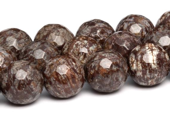 Brown Snowflake Obsidian Beads Grade Aaa Genuine Natural Gemstone Micro Faceted Round Loose Beads 6/8/10/12mm Bulk Lot Options