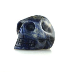 Shop Sodalite Shapes! Sodalite Crystal Skull, 1.9'', High Grade Cut And Polished Sodalite Carved Skull | Natural genuine stones & crystals in various shapes & sizes. Buy raw cut, tumbled, or polished gemstones for making jewelry or crystal healing energy vibration raising reiki stones. #crystals #gemstones #crystalhealing #crystalsandgemstones #energyhealing #affiliate #ad