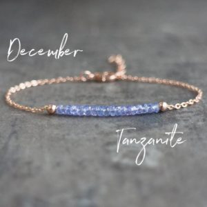 Delicate Tanzanite Bracelet, December Birthstone Gift for Women, Birthday Gifts for Her | Natural genuine Tanzanite bracelets. Buy crystal jewelry, handmade handcrafted artisan jewelry for women.  Unique handmade gift ideas. #jewelry #beadedbracelets #beadedjewelry #gift #shopping #handmadejewelry #fashion #style #product #bracelets #affiliate #ad