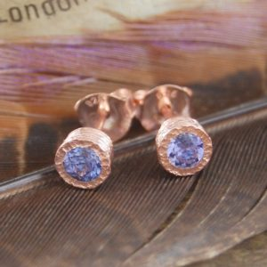 Shop Tanzanite Jewelry! Tanzanite Earrings, Rose Gold Earrings, Gold Gemstone Earrings, December Birthstone, Unusual Birthday Gift, Gift For Her, Purple Gemstone | Natural genuine Tanzanite jewelry. Buy crystal jewelry, handmade handcrafted artisan jewelry for women.  Unique handmade gift ideas. #jewelry #beadedjewelry #beadedjewelry #gift #shopping #handmadejewelry #fashion #style #product #jewelry #affiliate #ad