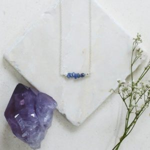 Shop Tanzanite Necklaces! Tanzanite necklace – Tanzanite bar necklace – Tanzanite beaded bar necklace – Tanzanite bead necklace – December birthstone necklace | Natural genuine Tanzanite necklaces. Buy crystal jewelry, handmade handcrafted artisan jewelry for women.  Unique handmade gift ideas. #jewelry #beadednecklaces #beadedjewelry #gift #shopping #handmadejewelry #fashion #style #product #necklaces #affiliate #ad
